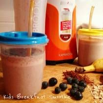 INGREDIENTS 2 cups milk 1/4 Cup Quick Oats Handful blueberries or strawberries 1 Banana, chopped 1/2 Tbs Cocoa or Milo 2 Tbs Vanilla Yoghurt DIRECTIONS Place all ingredients in the Blitz2Go and blitz for 10 seconds.   Recipes created and shared by Amanda Voisey. Cooking For Busy Mums was founded 4 months after my first son was born in F...