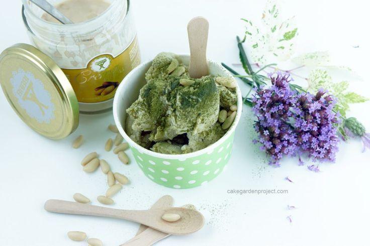 gelato al tè matcha e crema di pinoli Babbi