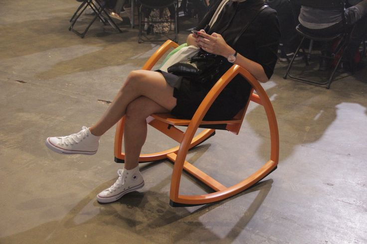 Sit back. Relax. and Rock in style. Comfortable yet elegant nordic design rocking chair in vibrant orange. www.rockforpeace.me