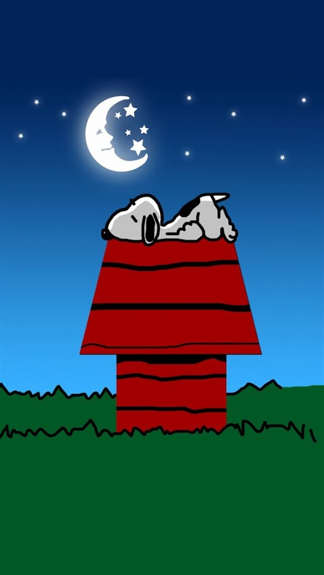 Good night, Snoopy! ♡ See More #PEANUTS #SNOOPY pics at www.freecomputerdesktopwallpaper.com/peanuts.shtml