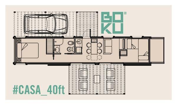 Medidas del contenedor de 40 pies buscar con google for Planos de casas con medidas