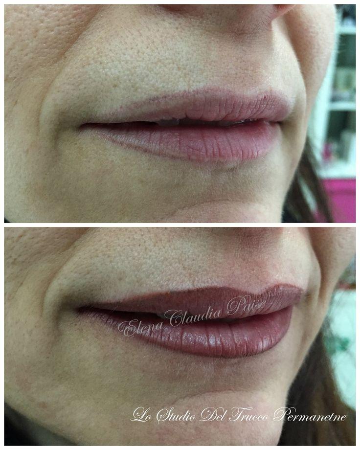 Ridefinizione contorno labbra con riempimento - pigmento biotek