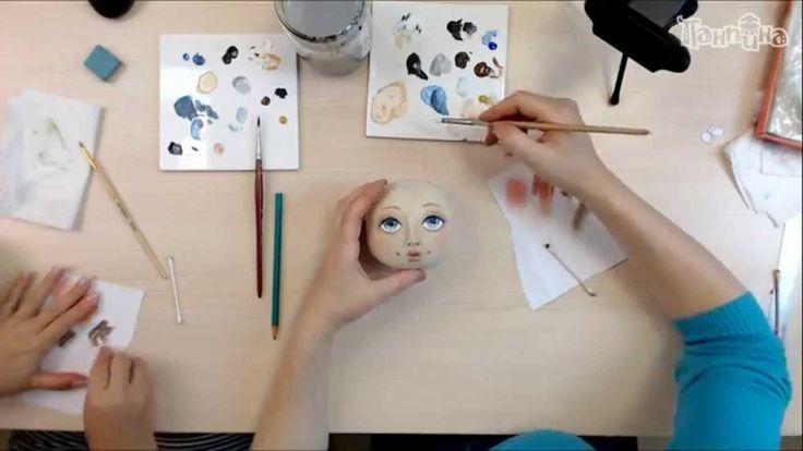 """Часть 2. Кукла своими руками. Создание лица куклы """"Эльза""""."""