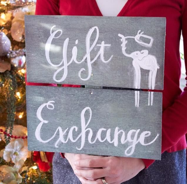 White Elephant Gift Exchange At Wedding : white elephant gift elephant gifts gift exchange christmas signs ...