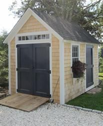 Transom Light Above Doors Would Help Bring In Natural Light Into Shed.