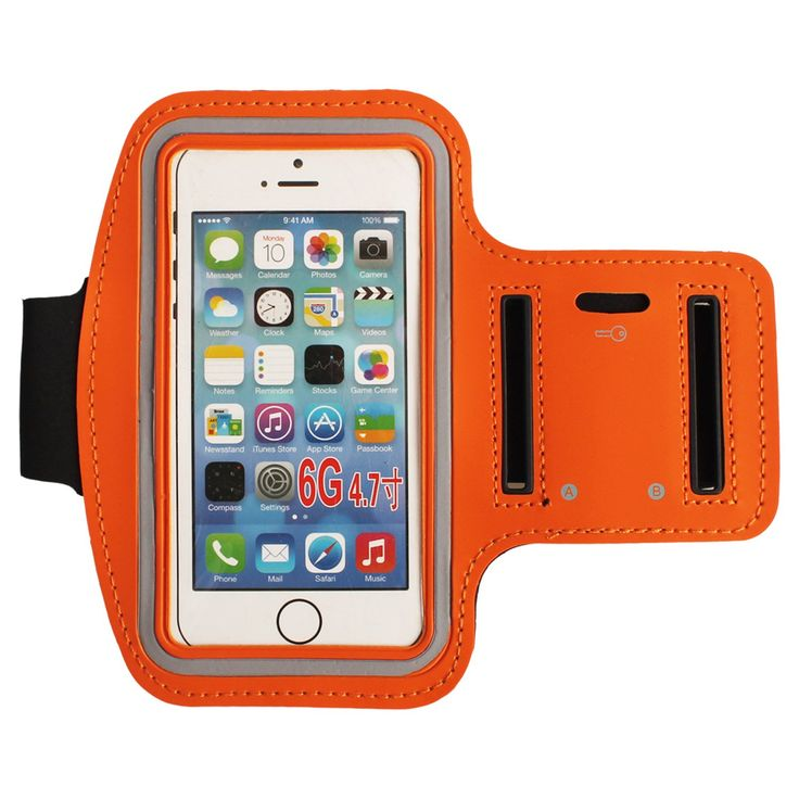 "Water Resistant Sports Armband with Key Holder for iPhone 6, 6S (4.7-Inch), Galaxy S3/S4, iPhone SE, 5/5C/5S, Bundle with Screen Protector (orange). BUNDLED IPHONE 6/6S (4.7"") SCREEN PROTECTOR WITH EVERY ORDER! 100% MANUFACTURER MONEY BACK GUARANTEE: If For Whatever Reason You Do Not Absolutely Love this Armband, Just Return It And We Will Refund Every Penny Or Replace It, No Questions Asked. QUALITY MATERIALS: Our Armband Is Made Of The Highest Quality Soft Neoprene That Is Made To Flex..."