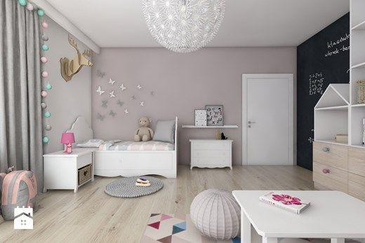 Pokoje dziecięce - Duży pokój dziecka dla dziewczynki dla ucznia dla malucha dla nastolatka, styl nowoczesny - zdjęcie od BAGUA Pracownia Architektury Wnętrz