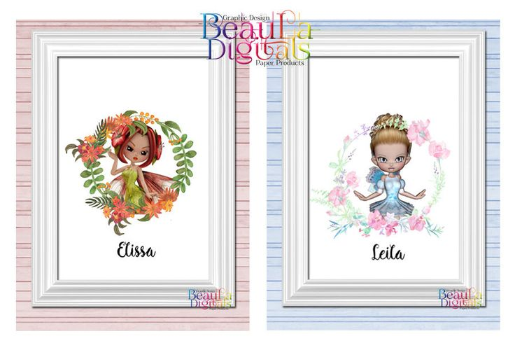 FAIRY Wall Decor Print Personalized - Glossy 300dpi Custom A4 or other size