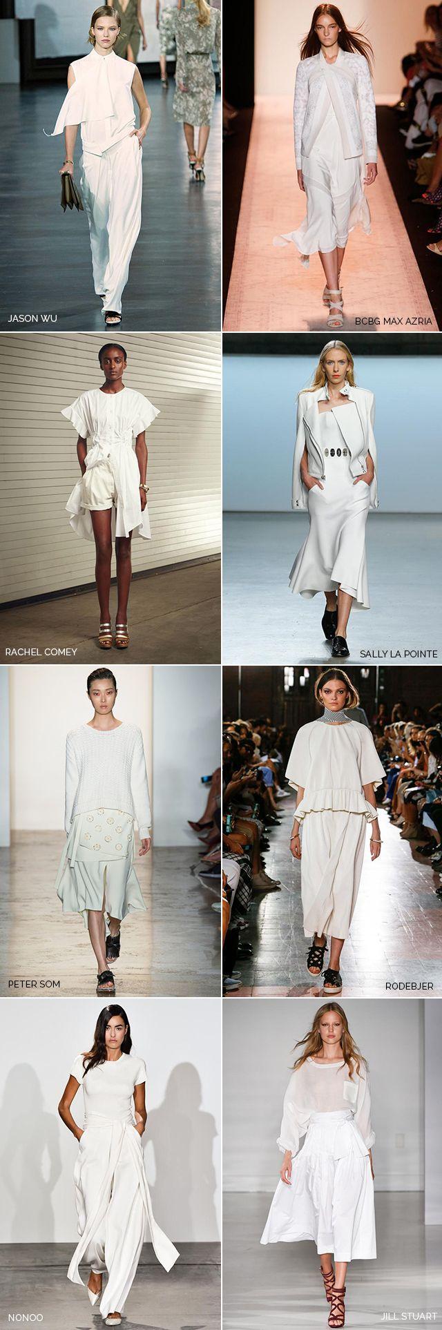 Spring 2015's best white monochromatic looks