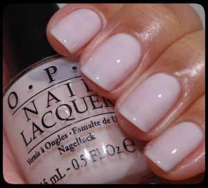 OPI Don't Burst My Bubble. Finally found the perfect shade of nude/light pink with a white undertone rather than peach. Love!
