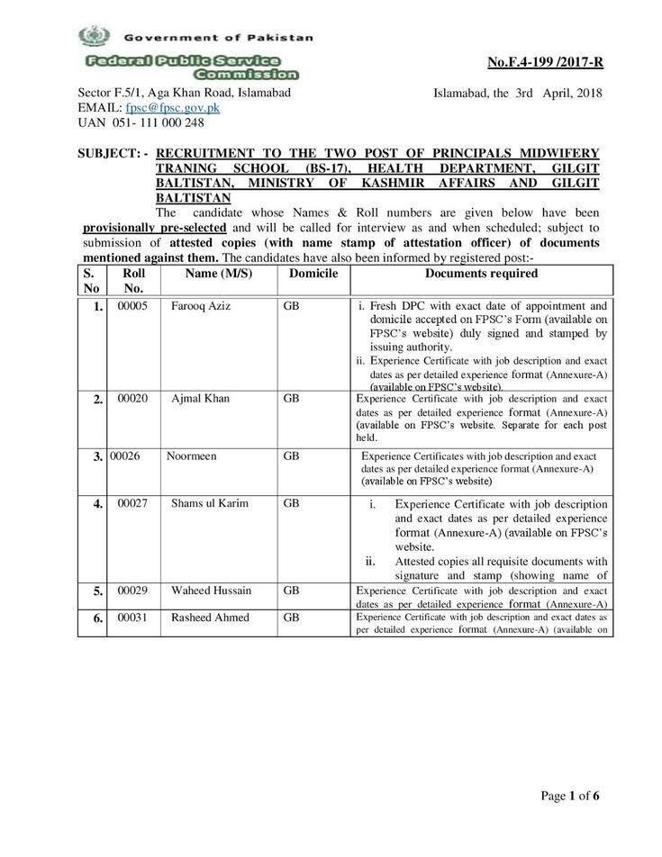 Gilgit-Baltistan Career, Educational \ Social Forum National - new experience certificate format logistics