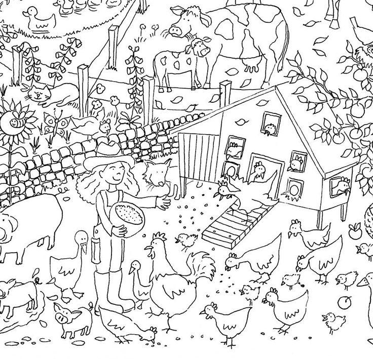 Farm Colouring In Poster