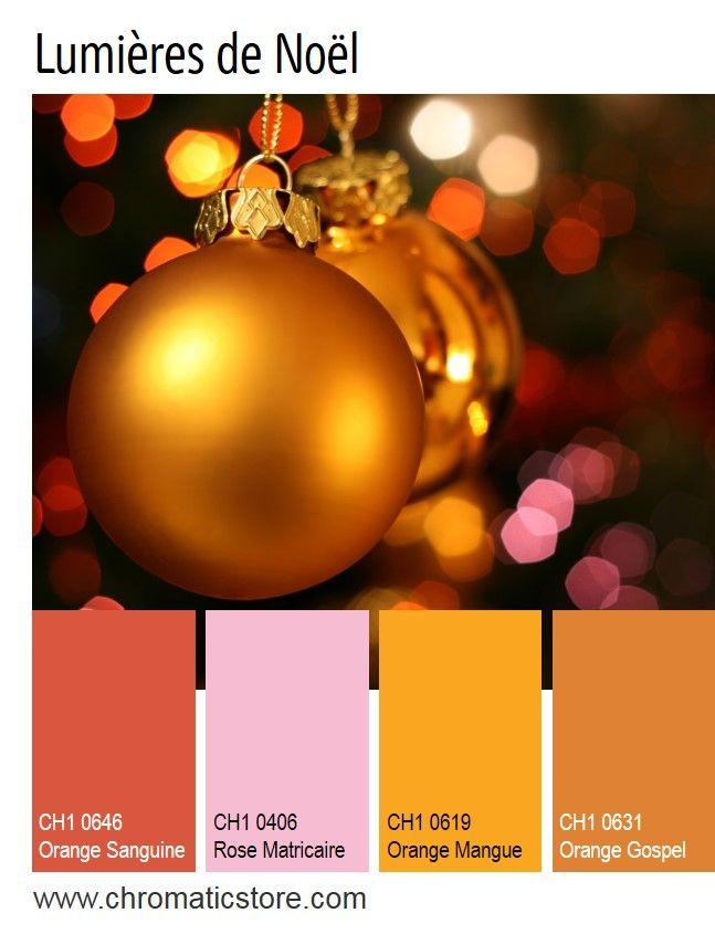 La touche de rose modernise et adoucie cette palette de couleurs inspirée des fruits mûrs. www.chromaticstore.com #inspiration #deco #noel