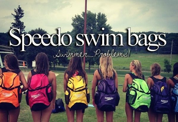 I have blue one but just got an adorable thirty one swim bag that has little dots and it is just a teeny bit smaller than my speedo one