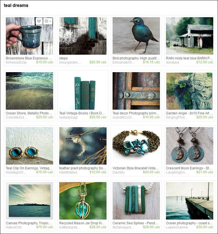 Teal Dreams - Curated by Heidi from BerlinGlam on Etsy