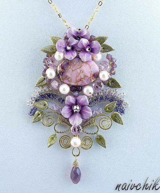 Alina Bond necklace.  I don't know who she is, but her jewelry is lovely.