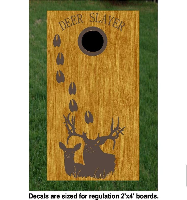 Deer Buck Hunting Cornhole Board Decals Stickers HF42 - BuckysDecals