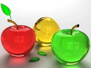glass-decorations-ideas-red-green-yellow-apple