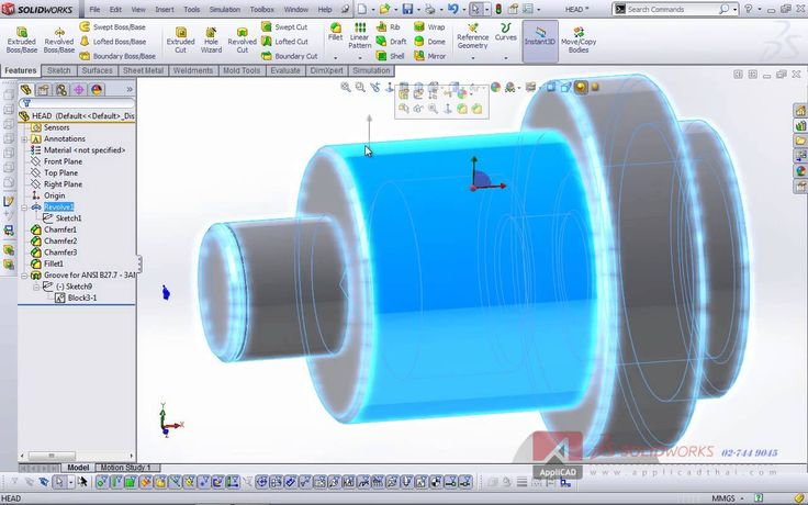 Toolbox - Grooves in SolidWorks