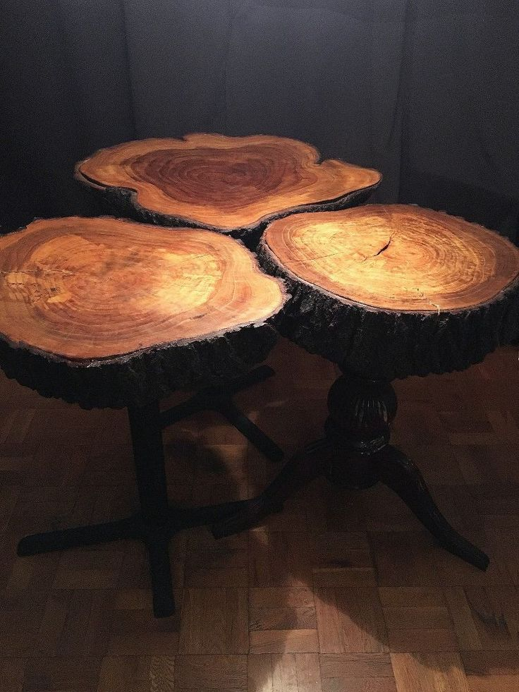 How to make a dining room table from tree trunks trees for Tree trunk dining room table