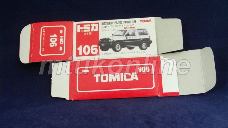 TOMICA 106 MITSUBISHI PAJERO POLICE | JAPAN | 1993 | DETAILED TYPE RED BOX ONLY