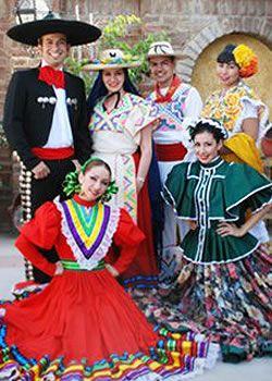 Diferentes trajes tipicos mexicanos