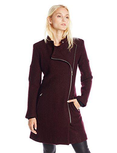 BB Dakota Women's Grayson Boiled Wool Coat with Sleeve Detail