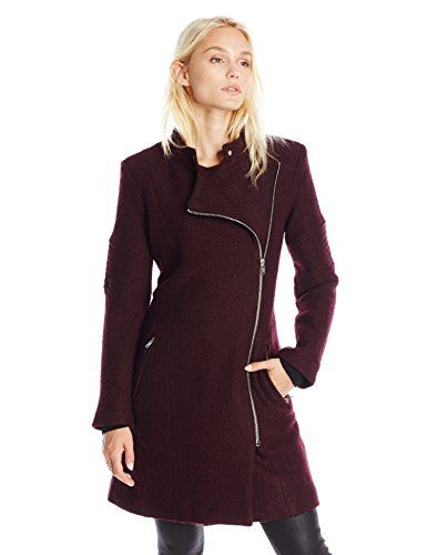 BB Dakota Women's Grayson Boiled Wool Coat with Sleeve Detail