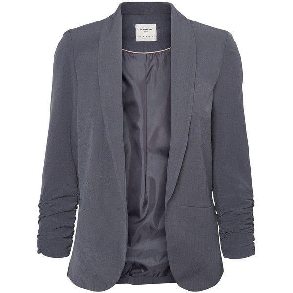 KORT BLAZER Vero Moda ❤ liked on Polyvore featuring outerwear, jackets, blazers, tall blazer, short blazer jacket, vero moda jackets, vero moda blazer and pocket jacket