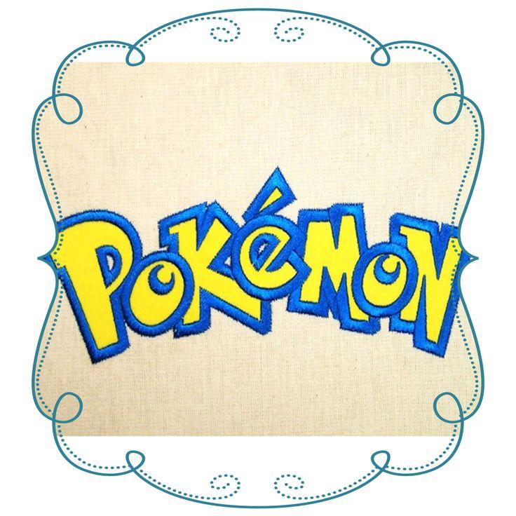 Pokemon Logo Applique