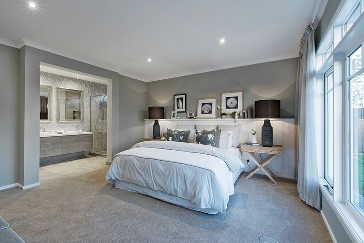 Master Bedroom in the Vancouver display with a Classic Hamptons World of Style.