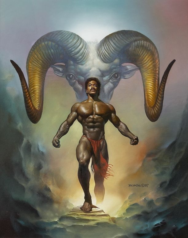 Boris Vallejo - Aries - Interior 1988 Boris Vallejo Zodiac Calendar, in Sebastian R's Fantasy Art Collection Comic Art Gallery Room - 530870