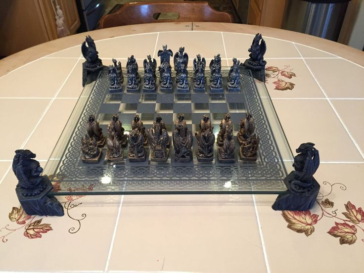 Mystical Creations Dragon Chess Set. | Chess sets ...