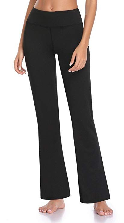 2a8a375f97354 Guguyeah Women's Workout Bootleg Yoga Pants Bootcut Leggings Active Wear  with Hidden Pockets at Amazon Women's Clothing store: