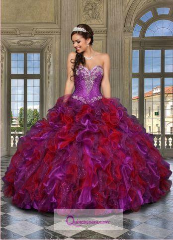 Hermoso vestido de #Quinceañera de dos tonos!  #Quince