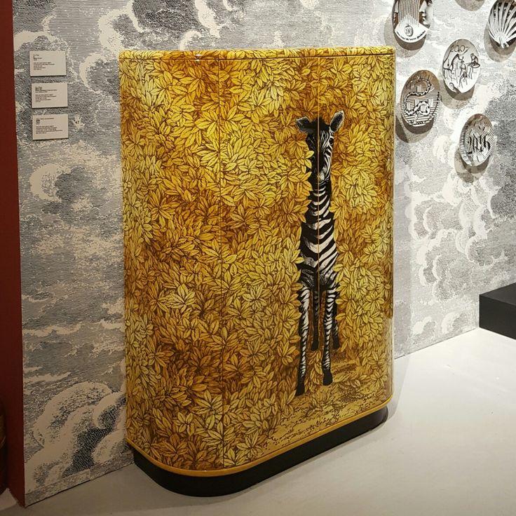 Italian artist 'Piero Fornasetti' exhibition  [Zebra, 2003] Curved cabinet