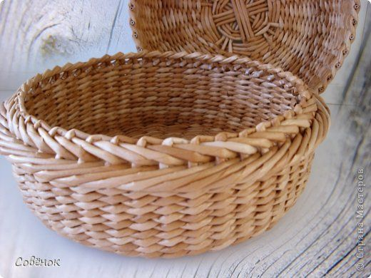 Поделка изделие Плетение Плетёнки из газеток 12 Бумага газетная Трубочки бумажные фото 3