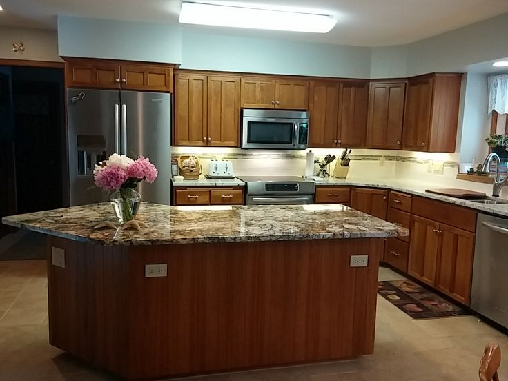 New Granite Counter Tops Are A Great Way To Dress Up Any Existing Kitchen!  In