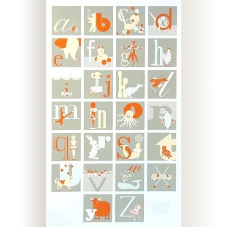 binth orange gray alphabet posterAbc, Picture-Black Posters, Kids Room, Alphabet Letters, Art, Binth Alphabet, Alphabet Posters, Baby Stuff, Alphabet Prints