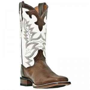 Dan Post Ladies Jewell Brass/White Square Toe Boots....Think I'm in LOVEEEE!!!