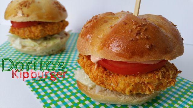 Ellouisa: Doritos-kipburger! (uit de oven)