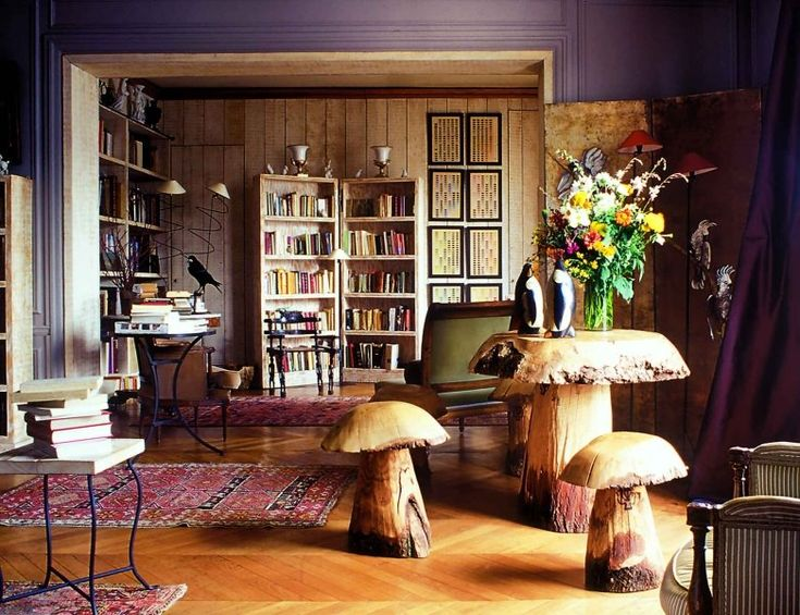 mushroom table and chairs