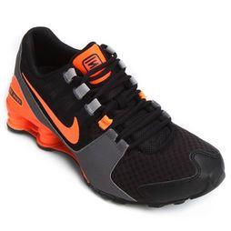 Tênis Nike Shox Avenue - Preto+Laranja