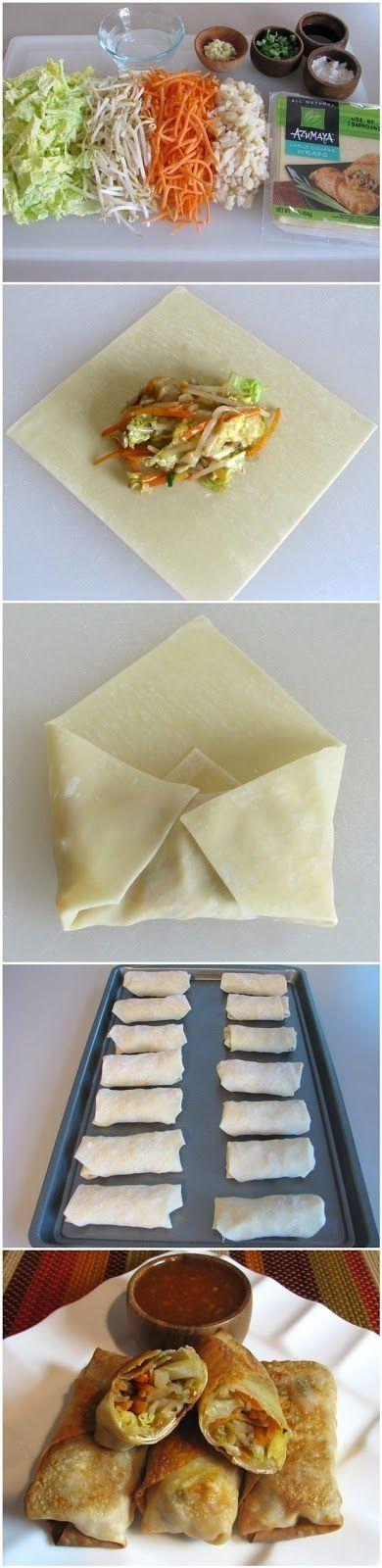 Baked rollitos de verduras