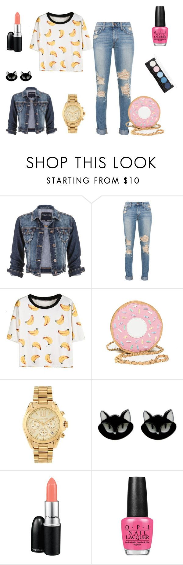 """""""wiosna2015"""" by dagusia112 on Polyvore featuring moda, maurices, Michael Kors, Erstwilder, MAC Cosmetics i OPI"""