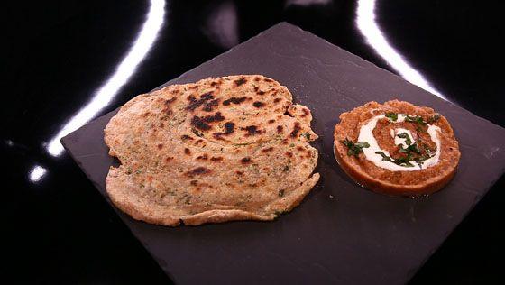 - Caviar d'aubergine Indien- Pain Indien feuilleté- Réalisation