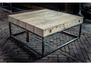 Deze prachtige salontafel van Ombre Design is exclusief en ambachtelijk gemaakt van oude vloerbalken. | Ombre Design | Salontafel Sable