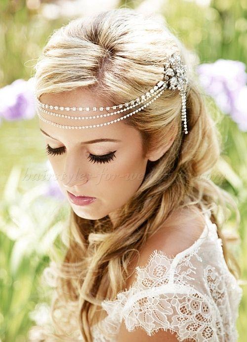 wedding headbands, bridal headbands, wedding forehead band