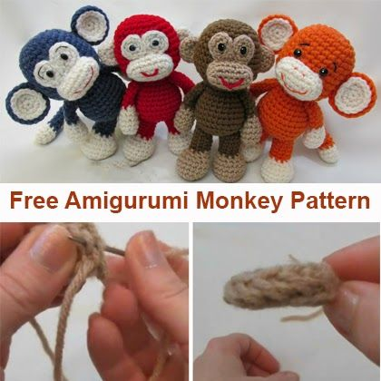 Crochet For Children: Little Bigfoot Monkey Revised Pattern Video Tutori...