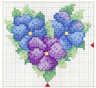 Flower Heart: Free pattern (no key)